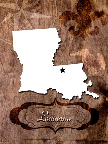 silhouette of Louisiana
